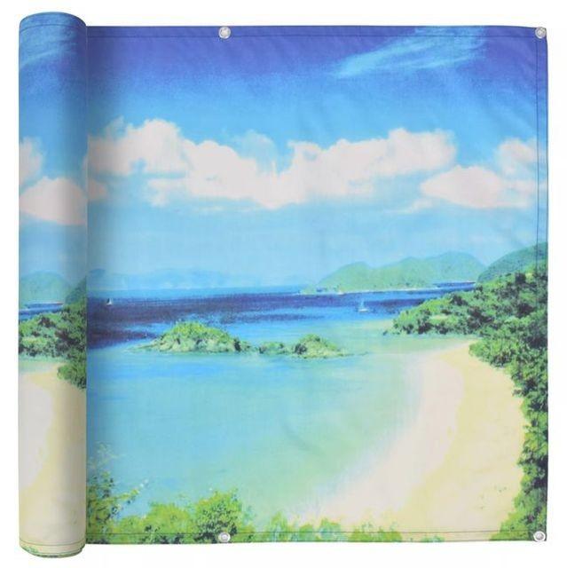Prelată balcon, material Oxford, 75x600 cm, imprimeu lac foto mare