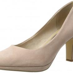 CH2549-5222 Pantofi clasici din imitatie piele intoarsa, cu varf rotund