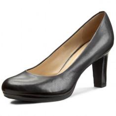 CH2566-1 Pantofi eleganti din piele naturala, cu toc gros
