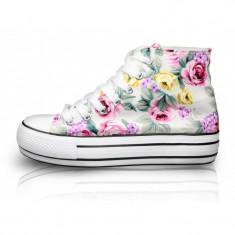 CH2368 Sneakers dama, cu imprimeu floral