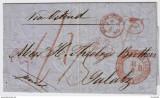1859-MANCHESTER-VIA ACHEN-TEMSWAR-GALATZ,POSTA AUSTRIACA DUPA RAZBOIUL CRIMEII., Stampilat