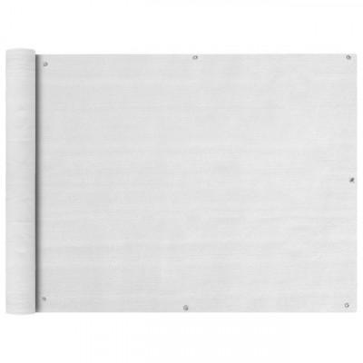 Prelata pentru balcon din HDPE, 90 x 400 cm, alb foto