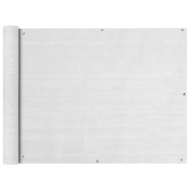 Prelata pentru balcon din HDPE, 90 x 400 cm, alb foto mare