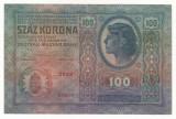 AUSTRIA  AUSTRO-UNGARIA 100  KRONEN  1912 [4] P-12 scrie UNA SUTA COROANE