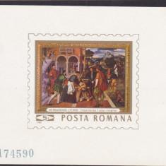 ROMANIA 1969  LP 710    REPRODUCERI  DE  ARTA  II  COLITA  NEDANTELATA  MNH