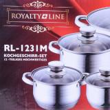 Set Oale Inox Cu Capac Sticla - Royalty Line, 12 Piese