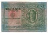 AUSTRIA  AUSTRO-UNGARIA 100  KRONEN  1912 [01] P-12 scrie UNA SUTA COROANE , XF