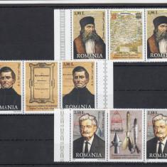 ROMANIA 2007  LP 1779 LP 1779 a PERSONALITATI   GERMANE  SERIE +SERIE VG. MNH, Nestampilat
