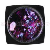 Decoratiune Unghii Folie Cameleon Metallic Violet