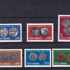 ROMANIA 1970  LP 728  NUMISMATICA  SERIE  MNH