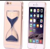 Husa Apple iPhone 5/5S Lichid Clepsidra Albastra Flippy Tpu Transparent