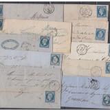 10 Plicuri / Scrisori - Franta 1858 - 1861