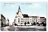 Timisoara Temesvar strada Andrassy ut ,CP circulata 1915,animata, Printata