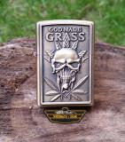 Bricheta tip Zippo Skull God made Gass Cap Rock Punk Canabis Marijuana, Altul