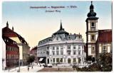 Sibiu Hermannstadt Nagyszeben Grosser Ring Piata Mare , RARA aprox 1915,necircul, Necirculata, Printata