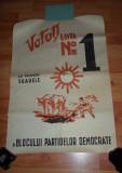 Afis electoral 1946 votati Soarele