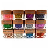 Gel UV Color Summer Mix cu Paiete si Sclipici EzFlow - culoare la alegere, 1 buc.