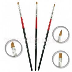 Set 3 Pensule Manichiura Unghii False - Red and Black striped