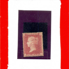 121=ANGLIA-GB-Regina Victoria 1856-1858-Timbru ONE PENY dantelat SG 40 LD (**)