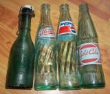 Lot sticle suc perioada comunista Pepsi, Gold Cola s.a.