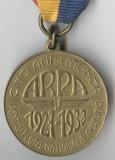 CINCI ANI DE MUNCA PENTRU FLOTA NATIONALA AERIANA - ARPA 1932 Medalie Carol 2