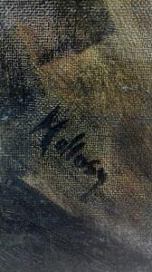 Tablou semnat Hollosy