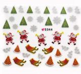Folie Sticker 3D unghii, model E044 - Unusual Gifts