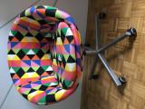 Scaun rotativ colorat IKEA