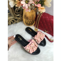 Papuci dama roz cu perlute marime   38+CADOU