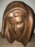 Sculptura in lemn,esenta tare,Madona,Fecioara Maria
