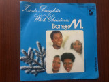 Boney m zion's daughter white christmas single disc vinyl muzica pop hansa 1982, VINIL, Hansa rec