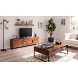 Comoda TV din lemn masiv salcam Woodson III