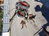 Motocultor cu remorca