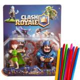 Set de 2 Figurine Clash Royale + set 10 baloane modelaj, 4-6 ani