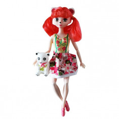 Papusa Karina Enchantimals, 30 cm inaltime, articulatii mobile, 4-6 ani