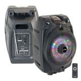 BOXA PORTABILA ACTIVA BLUETOOTH ILUMINATA LED 6 inch 50W RMS CU USB/SD/FM