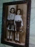 Poza/fotografie veche PORT TRADITIONAL ROMANESC,Tablou vechi epoca,Tranp.GRATUIT