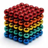 Neocube 216 bile magnetice 5mm, joc puzzle, multicolor, 6-8 ani