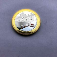 Moneda medalie 2014 CAMPIONATUL DE FOTBAL  - PLACATA CU AUR
