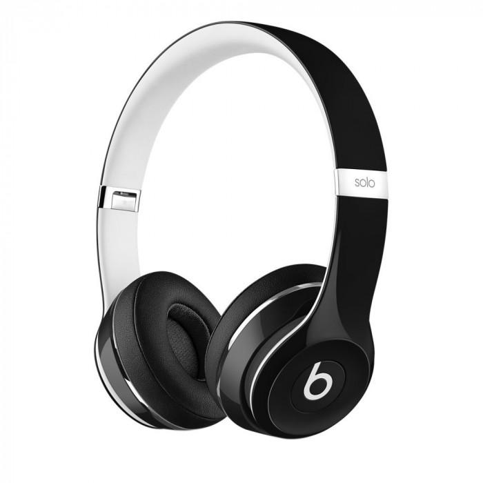 Resigilat : Casti audio on-ear Beats Solo 2 Luxe by Dr. Dre culoare Negru