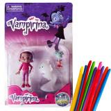 Set 3 figurine Vampirina, Poppy, Demi + 10 baloane modelaj multicolore cadou