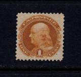 SUA 1869 - 1 CENT OCRU FRANKLIN MI Nr 26 COTA 600 EURO - MNH, Nestampilat