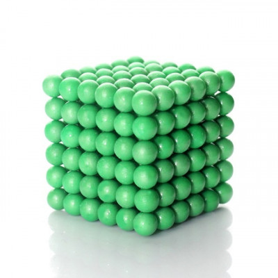 Neocube 216 bile magnetice 5mm, joc puzzle, fosforescente foto