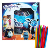 Papusa Vampirina Surprise Ball+ set 10 baloane de modelaj multicolore, cadou
