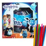Papusa Vampirina Surprise Ball+ set 10 baloane de modelaj multicolore, cadou, 4-6 ani