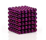 Neocube 216 bile magnetice 5mm, joc puzzle, culoare mov, 6-8 ani