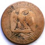 MOKAZIE , FRANTA , NAPOLEON III , 5 CENTIMES 1857 MA, Marseille MINT , 25mm., Europa, Cupru (arama)