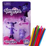 Set 3 figurine Disney Vampirina si Gregoria + set 10 baloane modelaj  cadou