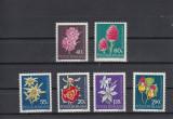 ROMANIA 1972 LP 794 FLORI RARE MONUMENTE ALE NATURII   SERIE  MNH, Nestampilat