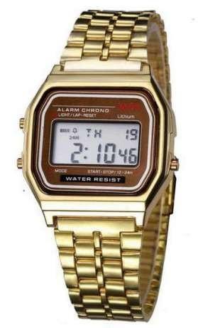 Ceas Casual Vintage MODEL RETRO ANII 80 Gold Silver Gold Black NOU